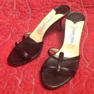 Jimmy Choo Black Kitten Heel Shoes Pumps Sz. 37